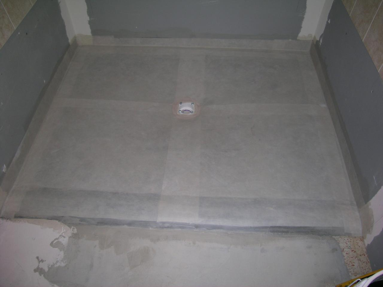 Shower Pan For Rollover Curb (curbless) Shower.